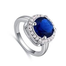 进口水晶戒指--你最闪亮(深靛蓝)