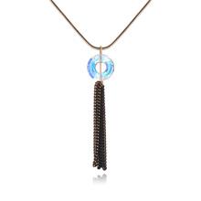奥地利水晶项链--情意绵绵(彩白)