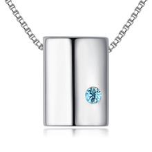 进口水晶项链--爱之光(海蓝)