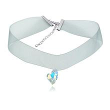 奥地利水晶颈链--偏心(彩白)
