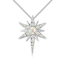 进口水晶项链--爱的徽章(彩白)