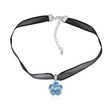 奥地利水晶颈链--灿烂芳华(海蓝)