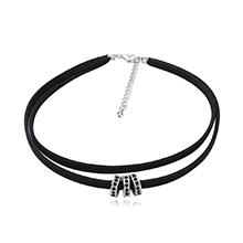 进口水晶颈链--爱情圈(黑色)