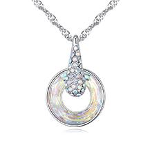 奥地利水晶项链--爱的幸运圈(彩白)