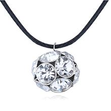 奥地利水晶项链--幸运彩球(白色)