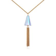 奥地利水晶项链--情丝(香槟金)