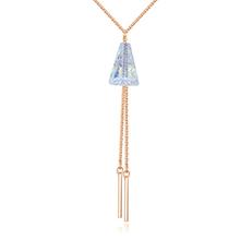 奥地利水晶项链--情意绵长(香槟金)
