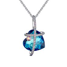 奥地利水晶项链--甜蜜期遇(蓝光)