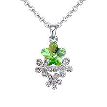 奥地利水晶项链--梅花物语(橄榄)