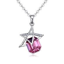 奥地利水晶项链--星眸(玫红)
