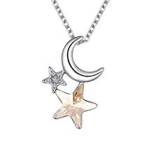 奥地利水晶项链--星月溢彩(金色魅影)