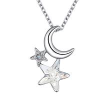 奥地利水晶项链--星月溢彩(白色)