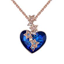 奥地利水晶项链--星雨心愿(玫瑰金)