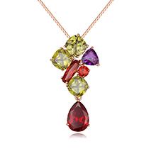 AAA级锆石项链--蒙娜丽莎(玫瑰金)