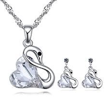 奥地利水晶套装--柔情天鹅(白色)