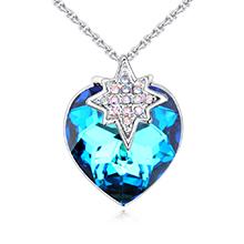 奥地利水晶项链--恋爱星晴(蓝光)