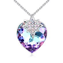 奥地利水晶项链--恋爱星晴(紫光)