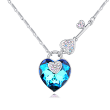 奥地利水晶项链--心悸天匙(蓝光)