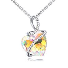 奥地利水晶项链--宠爱之心(彩白)