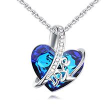 奥地利水晶项链--真爱誓言(蓝光)