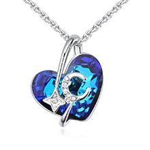 奥地利水晶项链--星月神话(蓝光)