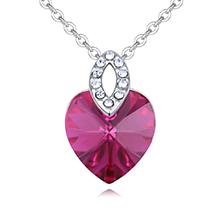 奥地利水晶项链-芳心大悦(紫红)