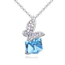 奥地利水晶项链--凤蝶凝舞(海蓝)