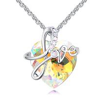 奥地利水晶项链--爱相随A款(彩白)