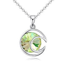 奥地利水晶项链--清风朗月(夜光绿)