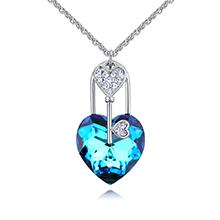 奥地利水晶项链--秘钥寻爱(蓝光)