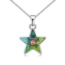 奥地利水晶项链--许愿星(七彩)