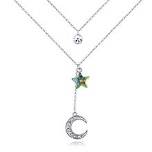 奥地利水晶项链--星月物语(七彩)