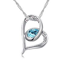 奥地利水晶项链--情之所钟(海蓝)