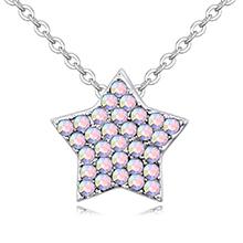 进口水晶项链--璀璨星辰(彩白)