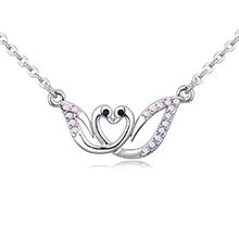 进口水晶项链--天鹅舞(彩白)