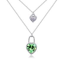 奥地利水晶项链--封心锁爱(橄榄)