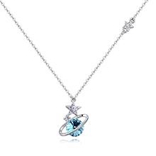 奥地利水晶项链--浪漫行星(海蓝)