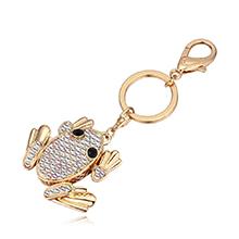 进口水晶钥匙扣--青蛙王子(白色)