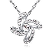 奥地利水晶项链--���童年(白色)