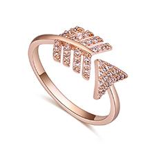 AAA级锆石戒指--箭羽(玫瑰金)