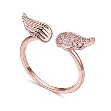 AAA级锆石戒指--天使之翼(玫瑰金)