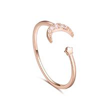 AAA级锆石戒指--星离月会(玫瑰金)
