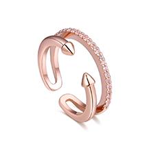 AAA级锆石戒指--光阴似箭(玫瑰金)