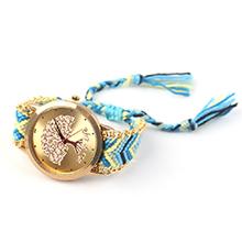 韩版潮流时尚毛线编织石英手表(天蓝 )