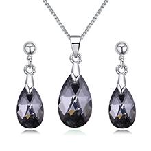 奥地利水晶套装--泪涟(黑钻石)