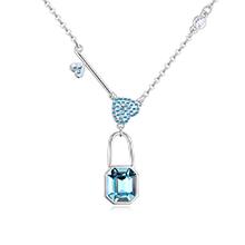 奥地利水晶项链--囚心锁爱(海蓝)