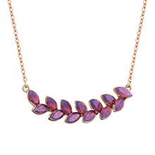 奥地利水晶项链--幸运橄榄枝(红紫蛋白)