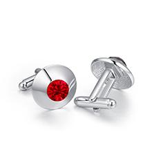 奥地利水晶袖扣--闪耀之光(浅红)