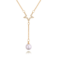 AAA级微镶锆石项链--星恋珠(香槟金)