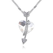 奥地利水晶项链--归心如箭(白色)